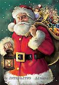 Interlitho, Simonetta, CHRISTMAS SANTA, SNOWMAN, paintings, santa, sack, lantern, KL5908,#x# Weihnachtsmänner, Papá Noel, Weihnachten, Navidad, illustrations, pinturas klassisch, clásico ,Simonetta,itdp