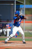 GCL Mets outfielder Dionis Paulino (92) at bat during the first game of a doubleheader against the GCL Marlins on July 24, 2015 at the St. Lucie Sports Complex in St. Lucie, Florida.  GCL Marlins defeated the GCL Mets 5-4.  (Mike Janes/Four Seam Images)