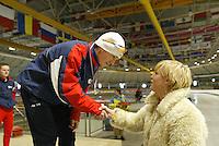 SCHAATSEN: HEERENVEEN: IJsstadion Thialf, 13-03-2004, VikingRace, Jesper Hospes (NED), Wieteke Cramer, ©foto Martin de Jong