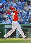 19 September 2012: Washington Nationals shortstop Ian Desmond in action against the Los Angeles Dodgers at Nationals Park in Washington, DC. The Nationals defeated the Dodgers 3-1 in the first game of their double-header. Mandatory Credit: Ed Wolfstein Photo