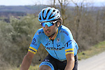 Manuele Boaro (ITA) Astana Pro Team on sector 8 Monte Santa Maria during Strade Bianche 2019 running 184km from Siena to Siena, held over the white gravel roads of Tuscany, Italy. 9th March 2019.<br /> Picture: Eoin Clarke | Cyclefile<br /> <br /> <br /> All photos usage must carry mandatory copyright credit (&copy; Cyclefile | Eoin Clarke)