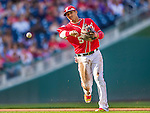 19 September 2015: Washington Nationals third baseman Yunel Escobar gets an out during the second inning against the Miami Marlins at Nationals Park in Washington, DC. The Nationals defeated the Marlins 5-2 in the third game of their 4-game series. Mandatory Credit: Ed Wolfstein Photo *** RAW (NEF) Image File Available ***