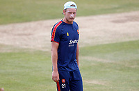 Essex captain Tom Westley strolls around the outfield prior to Essex CCC vs Kent CCC, Bob Willis Trophy Cricket at The Cloudfm County Ground on 4th August 2020
