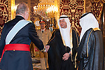 Presentation of credentials from Ambassadors to The King of Spain Juan Carlos I in the credentials room of the Royal Palace. In the picture Prince Mansur Bin Khaled Al-Farhan Al-Saud, Ambassador from Kingdom of Saudi Arabia introducing his diplomatic to to The King of Spain Juan Carlos I .June 21,2012. (ALTERPHOTOS/Ricky)