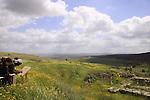 Israel, Southern Coastal Plain, Tel Gezer overlooking Ayalon valley