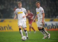 FUSSBALL   1. BUNDESLIGA   SAISON 2011/2012   23. SPIELTAG Borussia Moenchengladbach - Hamburger SV         24.02.2012 Marco Reus (li) und Mike Hanke (re, beide Borussia Moenchengladbach)  am Ball