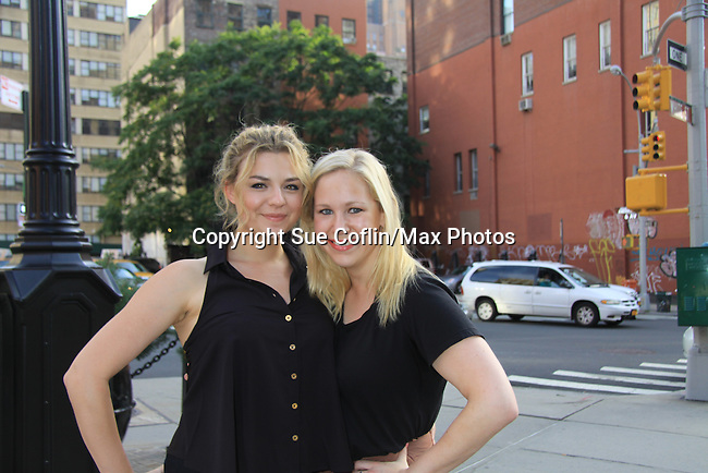 "GL Bonnie Dennison & Caitlin Van Zandt at the Season Four Premiere Party for Empire The Series ""Some of the Biggest Scandals Don't Make The Papers"" on July 14, 2012 at the Tribeca Grand, New York City, New York with the cast. (Photo by Sue Coflin/Max Photos)"