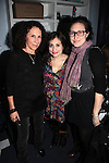 "Rhea Pearlman with daughters  Lucy Devito, Gracie Devito.backstage at  ""Celebrity Autobiography: In Their Own Words,"" the acclaimed, long-running LA- based comedy sensation at the Triad Theater in New York City..December 7, 2009."