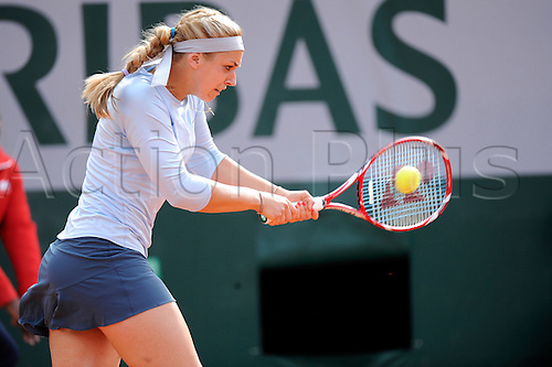 26.05.2013 Paris, France. Sabine Lisicki of Germany in action during the match between Sabine Lisicki of Germany and Sofia Arvidsson of Sweden in the first round of the French Open from Roland Garros.