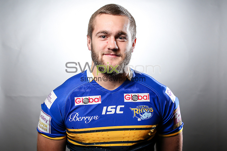 Picture by Alex Whitehead/SWpix.com - 23/01/2015 - Rugby League - First Utility Super League - Leeds Rhinos Headshots - Kirkstall Training Ground, Leeds, England - Robbie Ward