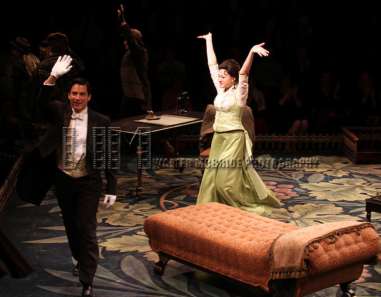 Nicholas Rodriguez &  Manna Nichols during the Curtain Call for the Arena Stage Production of 'My Fair Lady' at the Mead Center in Washington, D.C. on November 30, 2012.