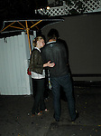 Kate Bowworth with her boyfriend leaving the .chatuie bar in Los Angeles