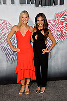 "LOS ANGELES, CA. August 28, 2018: Simone Delarue & Dominique Conti at the world premiere of ""Peppermint"" at the Regal LA Live."