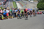 The breakaway group enter the famous Spa-Francorchamps Motor Circuit during Stage 3 of the 104th edition of the Tour de France 2017, running 212.5km from Verviers, Belgium to Longwy, France. 3rd July 2017.<br /> Picture: Eoin Clarke | Cyclefile<br /> <br /> All photos usage must carry mandatory copyright credit (&copy; Cyclefile | Eoin Clarke)