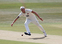 Harry Podmore fields for Kent during Kent CCC vs Sussex CCC, Bob Willis Trophy Cricket at The Spitfire Ground on 8th August 2020