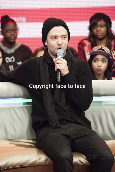 """NEW YORK, NY - MARCH 14: Justin Timberlake visits BET's """"106 & Park"""" at BET Studios on March 14, 2013 in New York City...Credit: MediaPunch/face to face..- Germany, Austria, Switzerland, Eastern Europe, Australia, UK, USA, Taiwan, Singapore, China, Malaysia and Thailand rights only -"""