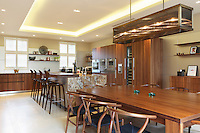 A 'Steers' Bulthaup kitchen, wth finely crafted wood units and furniture