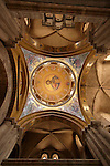 Israel, Jerusalem Old City, the ceiling of the Katholikon, the Church of the Holy Sepulchre. Easter 2005<br />