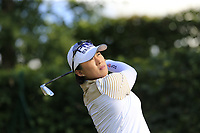 Amy Yang (KOR) tees off the 14th tee during Friday's Round 2 of The Evian Championship 2018, held at the Evian Resort Golf Club, Evian-les-Bains, France. 14th September 2018.<br /> Picture: Eoin Clarke | Golffile<br /> <br /> <br /> All photos usage must carry mandatory copyright credit (&copy; Golffile | Eoin Clarke)
