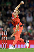 10th January 2020; Marvel Stadium, Melbourne, Victoria, Australia; Big Bash League Cricket, Melbourne Renegades versus Melbourne Stars; Richard Gleeson of the Renegades bowls the ball - Editorial Use