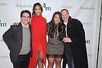 Keisha Sullivan and Jaclyn Rosenberg standing next to ther father's at the 3rd Annual Wives' Holiday Soiree at Totokaelo in SOHO on December 9, 2015.