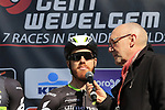 Tyler Farrar (USA) Team Dimension Data on stage at sign on before the start of Gent-Wevelgem in Flanders Fields 2017, running 249km from Denieze to Wevelgem, Flanders, Belgium. 26th March 2017.<br /> Picture: Eoin Clarke | Cyclefile<br /> <br /> <br /> All photos usage must carry mandatory copyright credit (&copy; Cyclefile | Eoin Clarke)