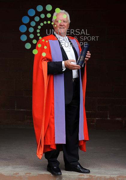 Former MP and chairman of the commons Treasury Select Committee John McFall receives honorary degree from the University of Strathclyde...Strathclyde University, Barony Hall, Rottenrow East, Glasgow , Scotland .  Picture: Euan Anderson/Universal News And Sport (Scotland) 12th July 2010.