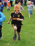 Rees Russell running in the under 6 race at Moneymore sports day. Photo: www.pressphotos.ie