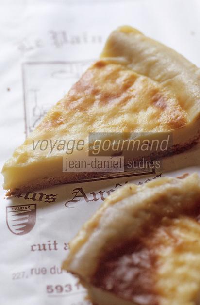"""Europe/France/59/Nord/Lille: Tarte a gros bord ou tarte au libouli expression venant de lait lait bouilli """"Le Pain de nos Ancetres"""" 26, rue des Bouchers."""