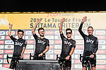 Team Sky are introduced to the crowd before the Tour de France Saitama Crit&eacute;rium 2017 held around the streets os Saitama, Japan. 3rd November 2017.<br /> Picture: ASO/Pauline Ballet | Cyclefile<br /> <br /> <br /> All photos usage must carry mandatory copyright credit (&copy; Cyclefile | ASO/Pauline Ballet)
