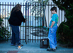 Susan Smith and her son Daniel, of Rivertown Cats and volunteer for H.A.R.P. (Homeless Animal Response Program), of Antioch, prepare to set out humane traps in order to catch, neuter and return (TNR) cats in Antioch, California, on Friday, March 21, 2014.  Photo/Victoria Sheridan