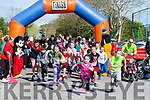 The younger runners lead off in the 5K Glounaguillagh National School, Caragh Lake, Fundraising fun run on Sunday