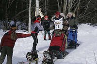 Sue Morgan in Anchorage on Saturday March 1st during the ceremonial start day of the 2008 Iidtarod Sled Dog Race.