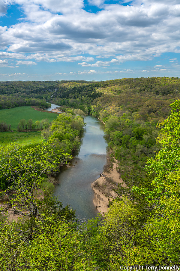 Buffalo National River, Arkansas:<br /> Buffalo River near Tyler Bend early spring