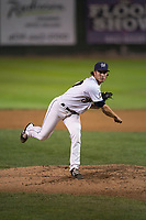 Helena Brewers starting pitcher Joey Matulovich (37) follows through on his delivery during a Pioneer League game against the Orem Owlz at Kindrick Legion Field on August 21, 2018 in Helena, Montana. The Orem Owlz defeated the Helena Brewers by a score of 6-0. (Zachary Lucy/Four Seam Images)