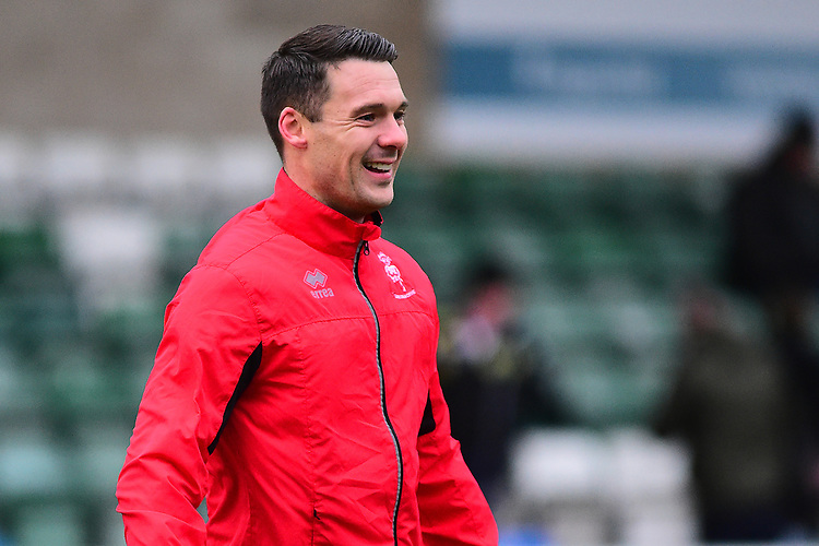 Lincoln City's Jason Shackell during the pre-match warm-up<br /> <br /> Photographer Andrew Vaughan/CameraSport<br /> <br /> The EFL Sky Bet League Two - Saturday 15th December 2018 - Lincoln City v Morecambe - Sincil Bank - Lincoln<br /> <br /> World Copyright © 2018 CameraSport. All rights reserved. 43 Linden Ave. Countesthorpe. Leicester. England. LE8 5PG - Tel: +44 (0) 116 277 4147 - admin@camerasport.com - www.camerasport.com