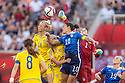 WINNIPEG, MANITOBA, CANADA - June 8, 2015: The Woman's World Cup US Women's National Team vs Sweden match at the Winnipeg Stadium . Final score, USA 0, Sweden 0.