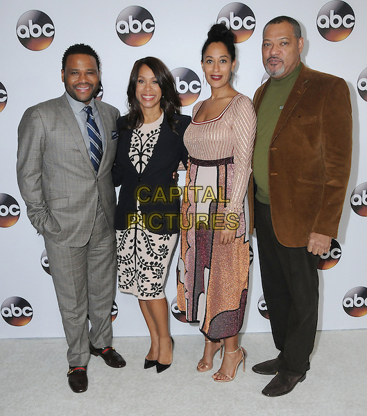 10 January 2017 - Pasadena, California - Anthony Anderson, Channing Dungey, Tracee Ellis Ross, Laurence Fishbourne. Disney ABC Television Group TCA Winter Press Tour 2017 held at the Langham Huntington Hotel. <br /> CAP/ADM/BT<br /> &copy;BT/ADM/Capital Pictures