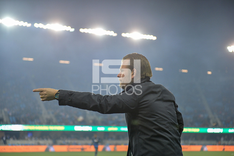 San Jose, CA - Saturday March 03, 2018: Mikael Stahre during a 2018 Major League Soccer (MLS) match between the San Jose Earthquakes and Minnesota United FC at Avaya Stadium.