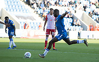 Frank Nouble of Colchester United converts the penalty to put the hosts into the lead during Colchester United vs Stevenage, Sky Bet EFL League 2 Football at the JobServe Community Stadium on 5th October 2019