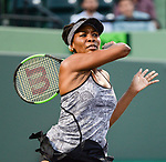 March 29 2017: Venus Williams (USA) defeats Angelique Kerber (GER) by 7-5, 6-3, at the Miami Open being played at Crandon Park Tennis Center in Miami, Key Biscayne, Florida. ©Karla Kinne/Tennisclix/Cal Sports Media
