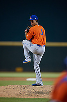 St. Lucie Mets pitcher Briam Campusano (4) during a Florida State League game against the Bradenton Barbanegras on July 27, 2019 at LECOM Park in Bradenton, Florida.  Bradenton defeated St. Lucie 3-2.  (Mike Janes/Four Seam Images)