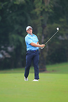 Paul Dunne (Europe) on the 7th fairway during the Saturday Foursomes of the Eurasia Cup at Glenmarie Golf and Country Club on the 13th January 2018.<br /> Picture:  Thos Caffrey / www.golffile.ie