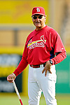 14 March 2007: St. Louis Cardinals manager Tony La Russa watches his team take batting practice prior to hosting the Washington Nationals at Roger Dean Stadium in Jupiter, Florida...Mandatory Photo Credit: Ed Wolfstein Photo