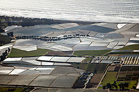 aerial photograph of coastal farming, Watsonville, Santa Cruz County, California
