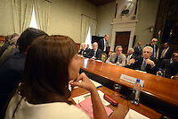 Roma, 3 Luglio 2012.Palazzo Chigi.Il Governo incontra gli enti locali per la Spending review