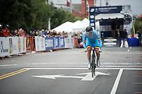 Ruben Pols (BEL) off the start ramp<br /> <br /> U23 Men TT<br /> UCI Road World Championships / Richmond 2015