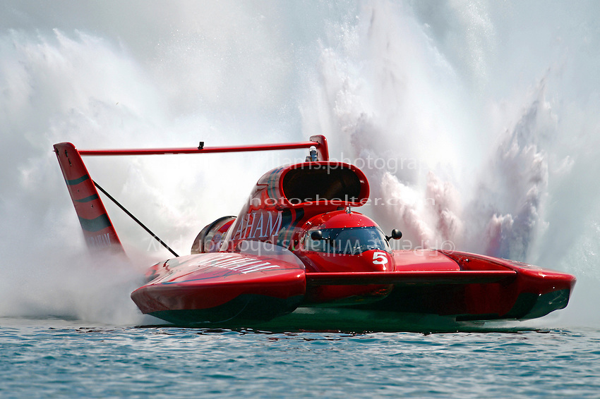 "J. Michael Kelly, U-5 ""Graham Trucking I""  (Unlimited Hydroplane)"