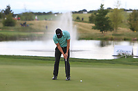 Haydn Porteous (RSA) on the 9th green during Round 4 of the D+D Real Czech Masters at the Albatross Golf Resort, Prague, Czech Rep. 03/09/2017<br /> Picture: Golffile | Thos Caffrey<br /> <br /> <br /> All photo usage must carry mandatory copyright credit     (&copy; Golffile | Thos Caffrey)
