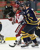 Luke Greiner (Harvard - 24), ?, Russell Goodman (Quinnipiac - 11) - The visiting Quinnipiac University Bobcats defeated the Harvard University Crimson 3-1 on Wednesday, December 8, 2010, at Bright Hockey Center in Cambridge, Massachusetts.